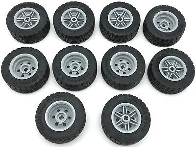 Lego Wheels 2 x 2 Spoked and Tires 7622 Vehicle Jeep Car Train