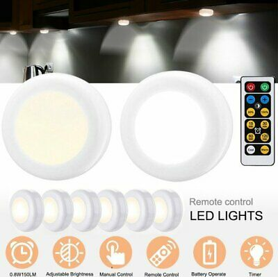 6 LED Motion Sensor Night Light Indoor Outdoor Battery Operated Stairs Hallway
