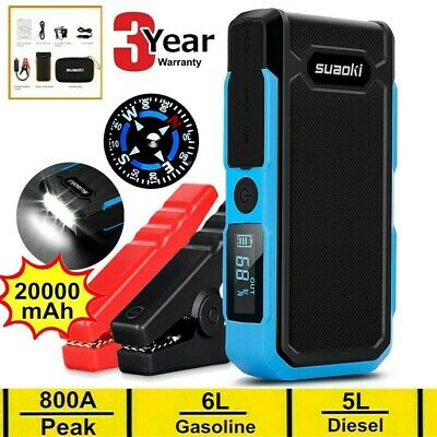 20000mAh 12V Car Jump Starter Auto Booster Battery Charger USB Power Bank 800Amp