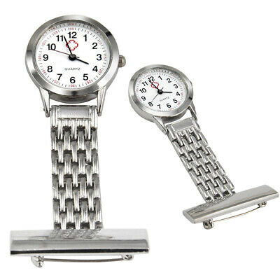 Stainless Steel Nurse Watch Doctor Medical Tunic Fob Pocket Brooch Quartz Watch