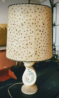 Vintage Mid Century mermaid double tier FAIP lamp