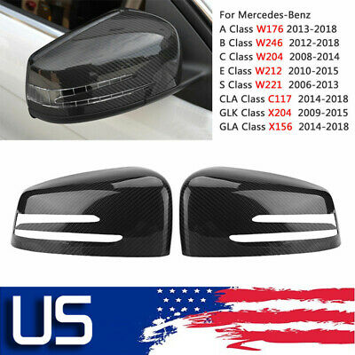 Carbon Rearview Mirror Covers For Mercedes Benz W204 C300 C350 C55 C63AMG 06-08
