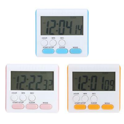 Multi-function Electric LCD Digital Kitchen Timer Alarm Count Up Down Clock E0Xc