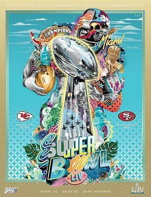 SUPER BOWL LIV 54 Stadium Game Program - Chiefs vs. 49ers - HOLOGRAPHIC VERSION