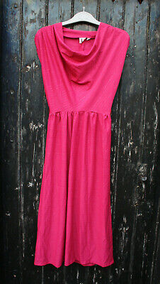 Vintage pink sleeveless cowl neck dress by Chelsea Girl, size 12