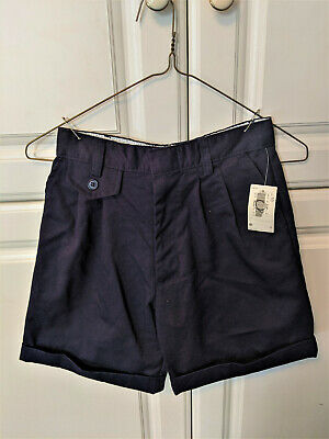 French Toast Girls Boys School Uniform Shorts Pants Pleated Front Navy Size 10