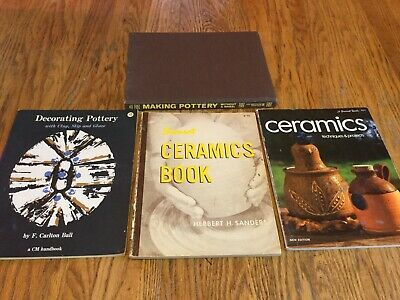 4 Pottery/Ceramics Books - Without a Wheel / Techniques & Projects / Decorating