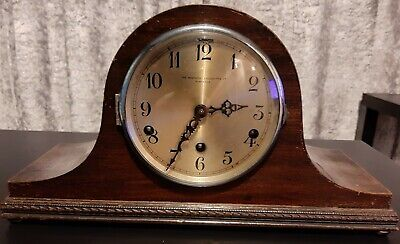 Antique chiming Large 'The Northern Goldsmiths And Co Newcastle' Mantle Clock