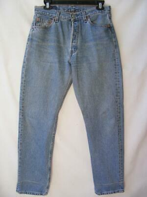 Levis 501 Button Fly Blue Denim Jeans 30 Retro 80s 90s USA High Rise Pinup Mom