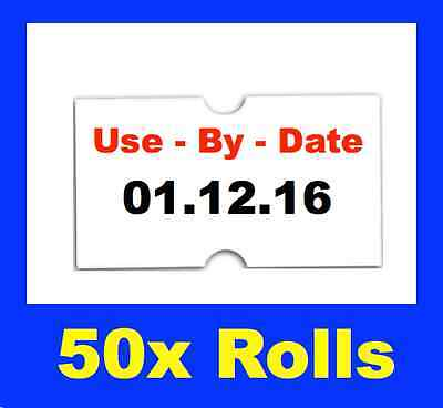 NEW USE BY DATE PRICE PRICING GUN TAGS LABELS x 50 ROLLS