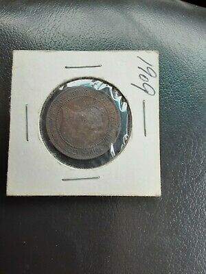 Uncirculated 1909 Canada One Cent Foreign Coin