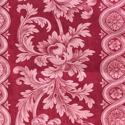 BEAUTIFUL MID 19th CENTURY FRENCH LINEN COTTON TOILE DE JOUY c1840s-50s 826