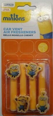 Car Air Vent Fresheners - Minions - Bello Morello Cherry        *New And Sealed*