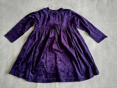 Girls purple long sleeved dress age 12-18 months Mothercare good condition