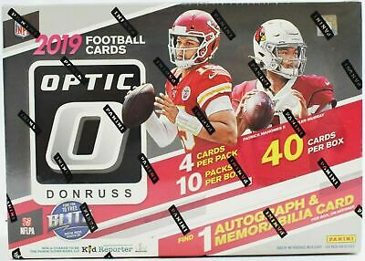 2019 Donruss Optic Football Factory Sealed Collector Box