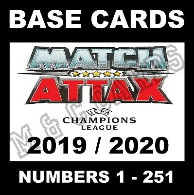 MATCH ATTAX 2019/20 19/20 Champions League cards 2019 / 2020 UK VERSION