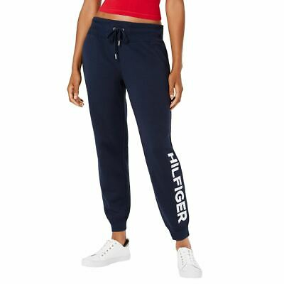 TOMMY HILFIGER SPORT Women's Embroidered Logo Fleece Joggers Pants TEDO