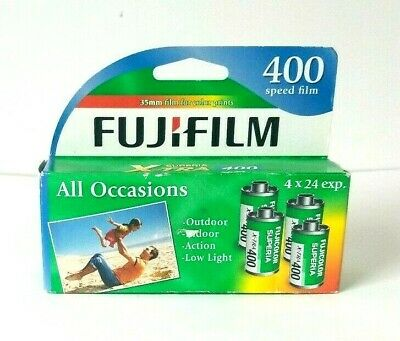 FujiFilm Superia X-TRA 400 Speed Color Film - 4 Pack (96 Total Exp.)Sealed 35mm