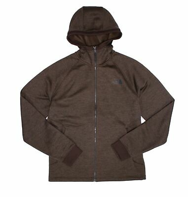 The North Face Mens Sweater Brown Size Medium M Fleece Hooded Norris $129 914