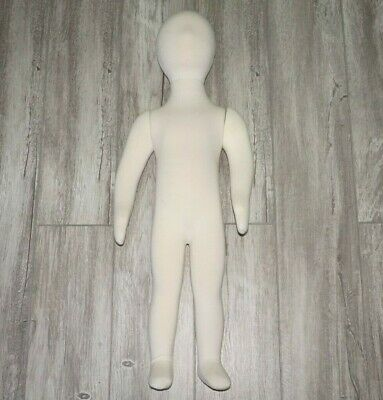 """Toddler Boy Flexible White Full Body Mannequin 31"""" With Head"""