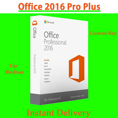 🔥Microsoft Office 2016 Professional Plus Key 32/64 Bit Instant Delivery🔥