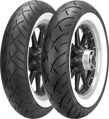 ME 888 Marathon Ultra WW Bias Front Tire 130/90-16 Wide Whitewall Met. 2407600