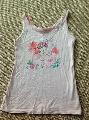 Young Dimension Little Girls Pink Vest Top Age 6-7 Years