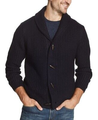 Weatherproof Mens Sweater Navy Blue Size XL Knitted Vintage Cardigan $90 089