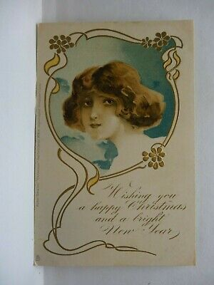 Foreign Christmas Card , Young Girl Portrait,  ****