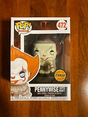 Funko Pop Pennywise with Boat  472 It Chase Nib New Movies Retired