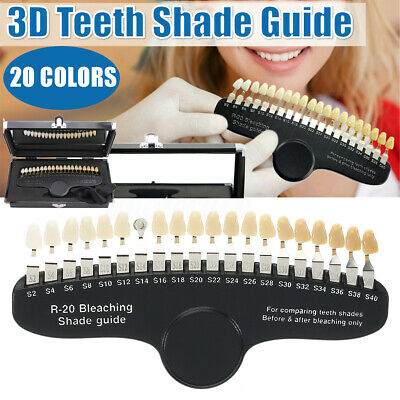 Teeth Whitening Dental Shade Guide Bleaching Shadeguide - 20 Colors Education