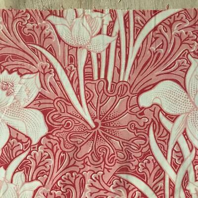 BEAUTIFUL 19th CENTURY FRENCH  ARTS & CRAFTS LINEN COTTON, DAFFODILS 801