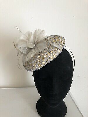 Silver Grey Fascinator Headband Weddings Christening Ladies Day Ascot