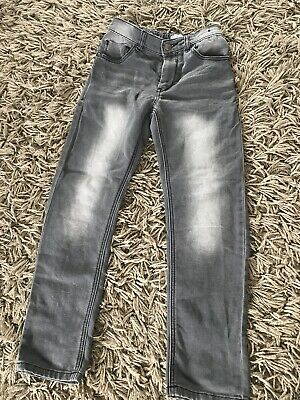 Boys next age 8 Grey Jeans Regular Straight Leg Faded
