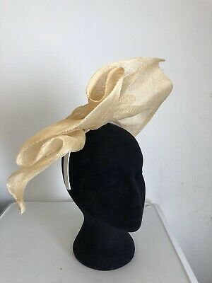 Nude Beige Fascinator Weddings Christenings Ladies Day Ascot