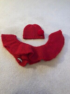 Girls Mayoral Hat And Snood Style Scarf Age 6-9