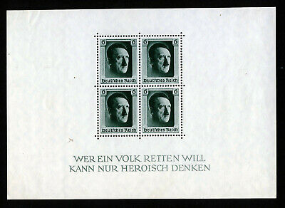 GERMANY 1937 Hitler's Culture Fund & 48th Birthday Mini-Sheet SG MS635 MINT