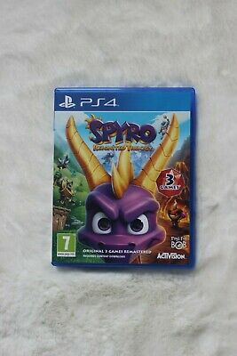 Spyro the Dragon Reignited Trilogy for PlayStation 4 used good condition.