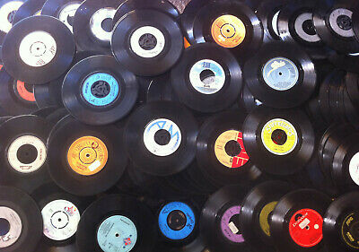 "LUCKY DIP JOBLOT 150+ 7"" Vinyl Records from 60's, 70's and 80's Varying artists"