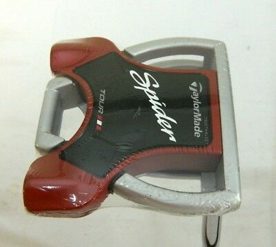 """Brand New Taylormade Spider Tour Platinum 34"""" Putter 34 inches Long Silver & Red"""