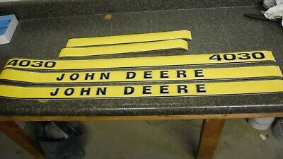 John Deere 4030 Decals. Hood And Numbers Only. See Pictures And Details