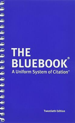 The Bluebook A Uniform System of Citation 20th Edition