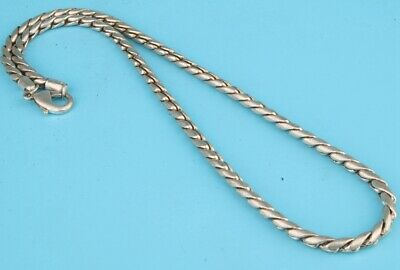 Rare Chinese Tibetan Silver Necklace Sweater Chain Ladies Decorative Craft Gift
