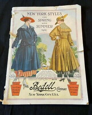 1917 Spring Summer Catalog Fashion Catalog The Bedell Company Pre-Flapper Styles