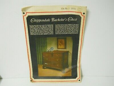 Vincent Price Nat'l Treasures Sears Roebuck Chippendale Bachelor's Chest Guide
