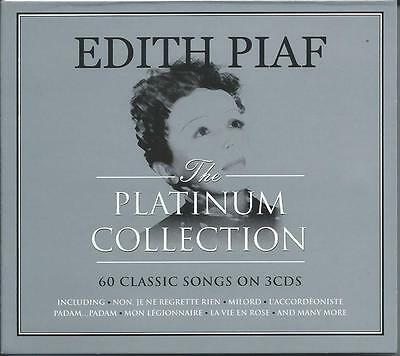 Edith Piaf - The Platinum Collection - 60 Classic Songs 3CD 2016 NEW/SEALED