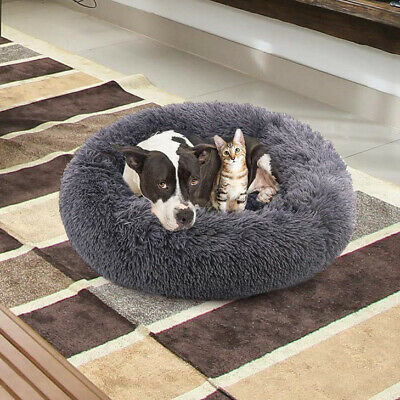 Pet Dog Bed Comfort Donut Cuddler Pillow Round Ultra Soft Washable Cushion XL US