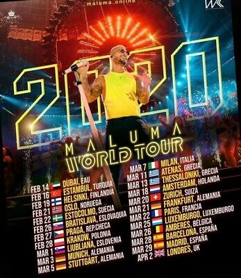 Maluma 2 Tickets Concert - 22th March Paris