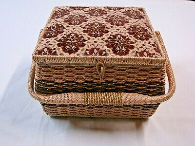 Vintage Made Exclusively For Singer Sewing Basket  # 5437 Made In Japan