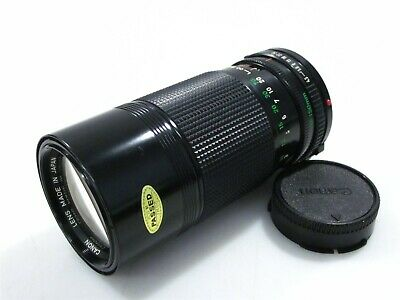 Canon FD 70-150mm f/4.5 Zoom Lens with Rear Lens Cap